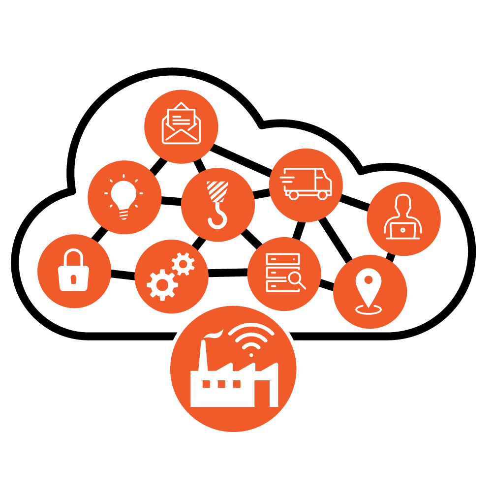 icon representing complex network of operations