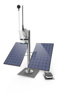blast vibration monitor solar powered unit